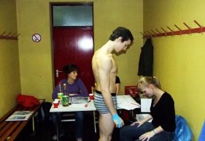 Nikola Savic na merenju