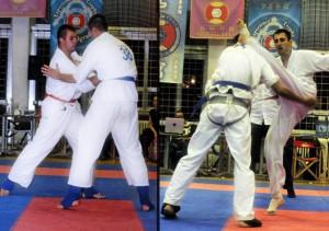 sl.1 Vuk i Marko Ribic u borbi za zlato, sl.2 Milan Bojic u akciji