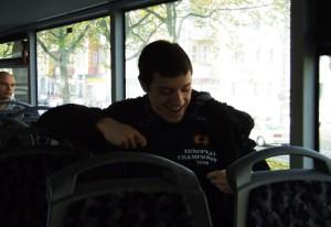Nikola Savic u gradskom prevozu