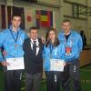 srpska delegacija sa osvojenim medaljama sa domacinom turnira